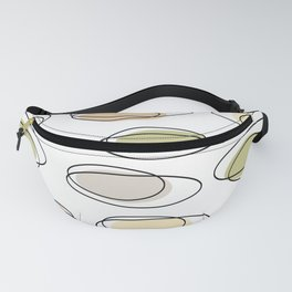 Mid Century Modern Ovals Scribbles Pastel Fanny Pack