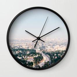 Pink LA Wall Clock