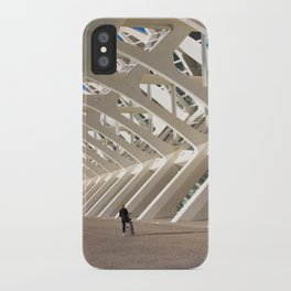 Biker and the skeleton iPhone Case