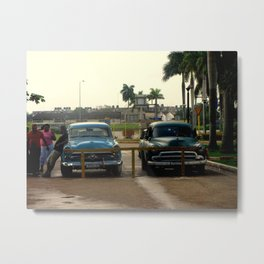 Two Cars in Havana Metal Print