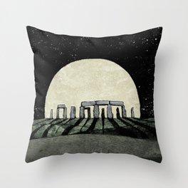 Rising Moon Throw Pillow