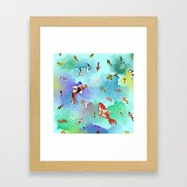 Koi watercolor Framed Art Print