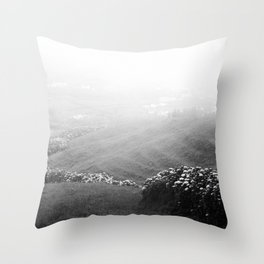 Minimalist landscape Throw Pillow