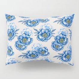 Blue Peonies Pattern (Spring Series) Pillow Sham