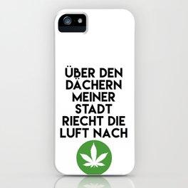 PALMEN AUS PLASTIK - Marihuana 187 Lyrics iPhone Case