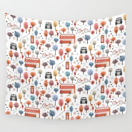 London transport with an adult female Wall Tapestry