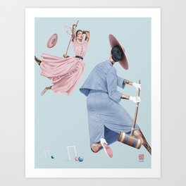 Croquet and Ink Eleven Art Print