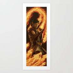 Fire Sorcerer Art Print