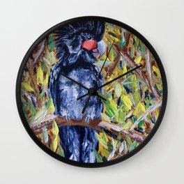 Palm Cockatoo Wall Clock