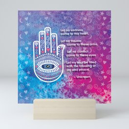 Hamsa Prayer Mini Art Print