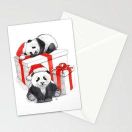 Christmas-Panda's babies g144 Stationery Cards