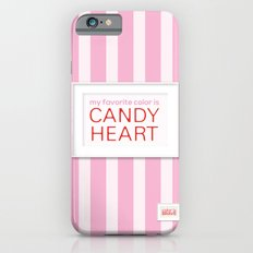 my favorite color is candy heart iPhone 6s Slim Case
