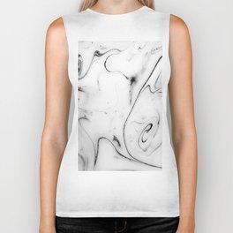 Elegant white marble image Biker Tank