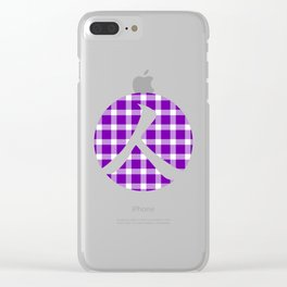 Plaid Royal Purple Person Clear iPhone Case