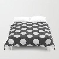 polka dots Duvet Covers featuring Polka Dots by NobuDesign