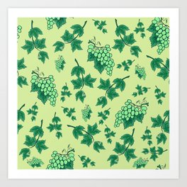 Seamless background from bunches of grapes Art Print