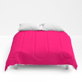 Bright Fluorescent Pink Neon Comforters