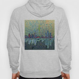 detroit city skyline Hoody