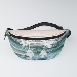 Your Vibe Attracts Your Tribe - Ocean Sunset Fanny Pack