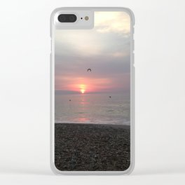 Flying sunrise Clear iPhone Case