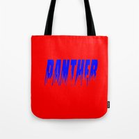 panther Tote Bags featuring Panther by Brian Raggatt