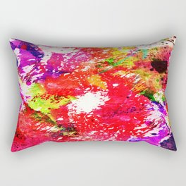 Expression Of Colour - Abstract Painting In Rainbow Colours Rectangular Pillow