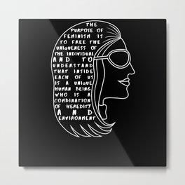 Gloria Steinem Feminist Icon Quote Metal Print