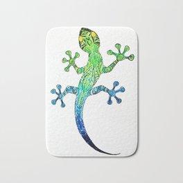 colored mandala gecko Bath Mat
