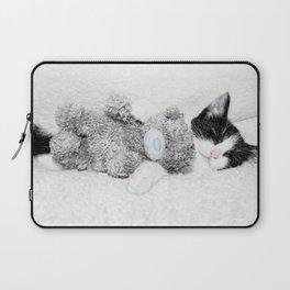 Kitten and teddy Laptop Sleeve