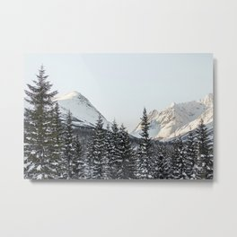 Snowy Mountain Landscape Art Print | Lyngen Alps Norway Photo | Nature Landscape Travel Photography Metal Print