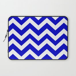 Medium blue - blue color - Zigzag Chevron Pattern Laptop Sleeve