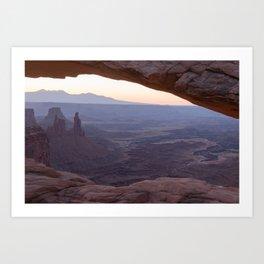 Canyonland Morning Haze - Mesa Arch Landscape Art Print