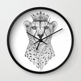 The Queen Cheetah Wall Clock