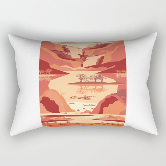 Up The River Rectangular Pillow