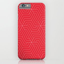 Rose madder - red - Modern Vector Seamless Pattern iPhone Case