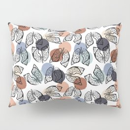 Vintage Lungs on White Pillow Sham