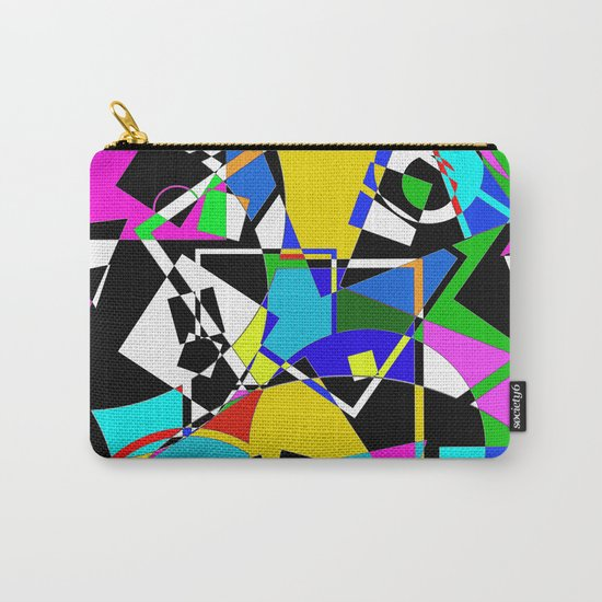 Colour Pieces - Geometric, eclectic, colourful, random pattern of shapes Carry-All Pouch