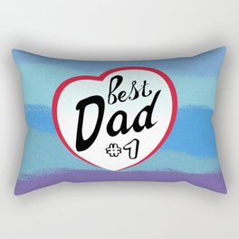 Best dad on father's day. Dad  number one Rectangular Pillow