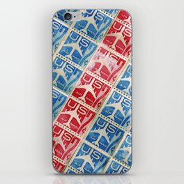 Vintage Postage Stamp Collection - 03 (airmail diagonal) iPhone Skin