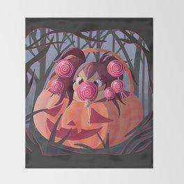 Halloween Candy Throw Blanket