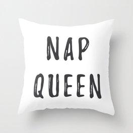 Nap Queen Throw Pillow