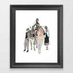 Stripe Tease Framed Art Print