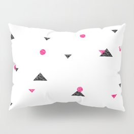 Triangle Explosion - Pink and Black Pillow Sham
