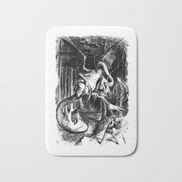 Jabberwocky Illustration from Alice in Wonderland Transparent Background Bath Mat