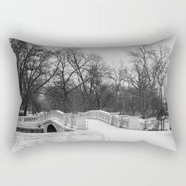 Winter Solitude - St. Louis Snowy Bridge Rectangular Pillow