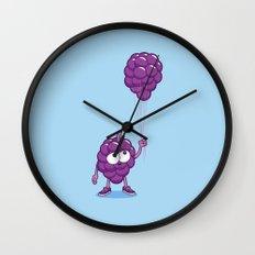 Grapes With Balloons Wall Clock