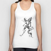 lovecraft Tank Tops featuring Lovecraft Series:  Mi- Go by Furry Turtle Creations
