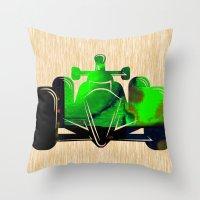 Formula Race Car Throw Pillow