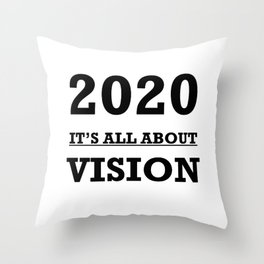 2020 Its All About Vision Eye Chart Throw Pillow