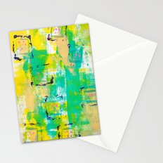 March Abstract TWO Stationery Cards